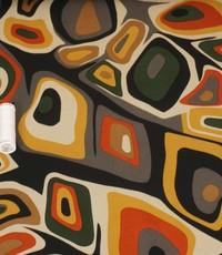 Tricot Picasso zwart met beige en groen
