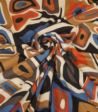 Tricot Picasso zwart met beige en brique