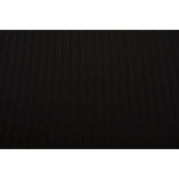 Chiffon stof zwart met transparante streep