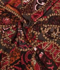 Poly tricot  Gaudi met rozetinten