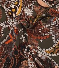 Poly tricot  Gaudi met bruintinten