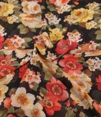 Chiffon met romantische bloemen
