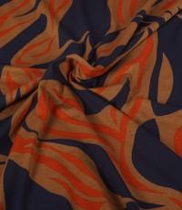 Viscose tricot gevlamd blauw
