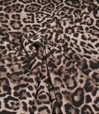 Poly tricot dieren beige
