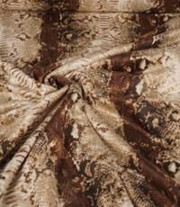 Velboa mixprint bruin