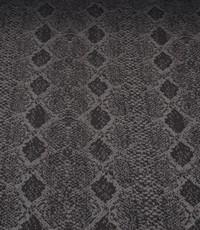 Gebreid zwart met grijs slangenpatroon