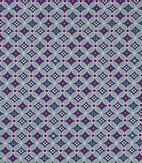 Popeline met abstracte print blauw