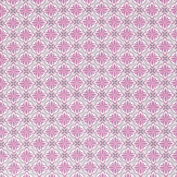 Popeline stof retroprint roze