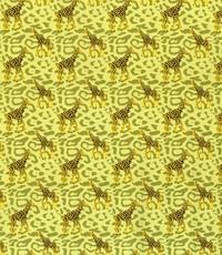 Popeline met girafjes groen