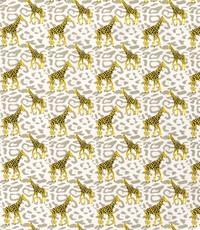 Popeline met girafjes beige