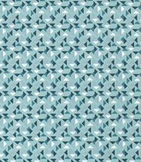 Popeline blauw met driehoekjes