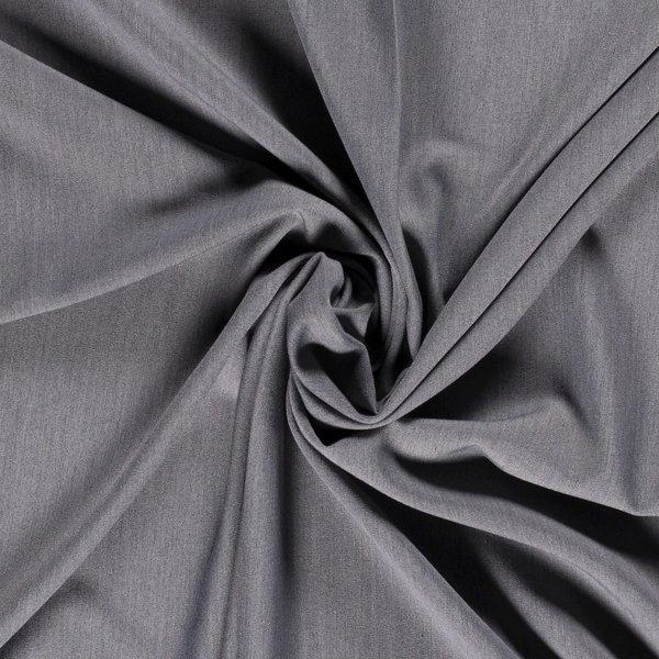 Gabardine stretch stof gemeleerd middengrijs