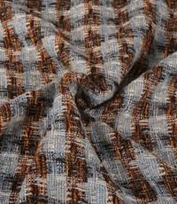 Polyester geweven lichtblauw met lurex