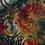 Jersey stof met opgelegd patroon van cirkels