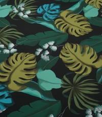Viscose met grote groene bladeren