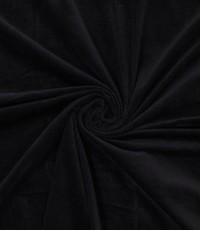 Ribfluweel stretch zwart