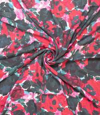 Viscose met digitale rozenprint