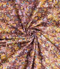 Dubbelprint viscose bruin