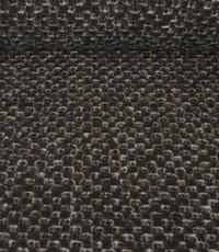 Gekookte wol zwart met grijze noppen