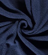 Bouclé bont jeansblauw