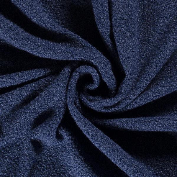 Bouclé stof bont jeansblauw