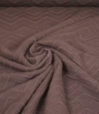 Gebreid effen taupe met zigzag patroon