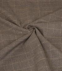 Gabardine stretch ruit grijs met lurex