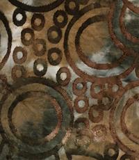 Jersey met opgelegd patroon van cirkels groen