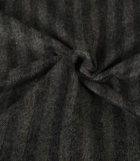 Mantelstof met grijze strepen