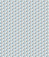 Katoen met mini driehoekjes blauw