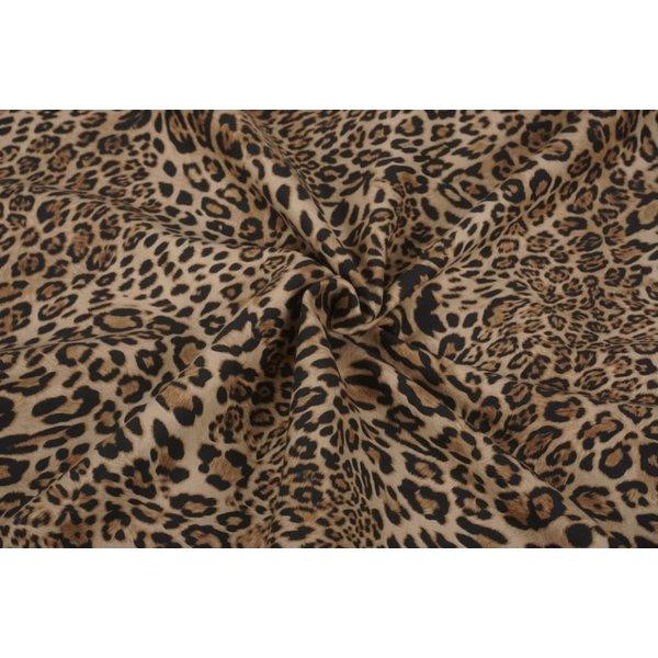 Bengaline stof met luipaardprint