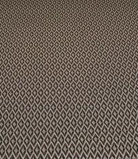 Gebreide stof wyber zwart wit en taupe