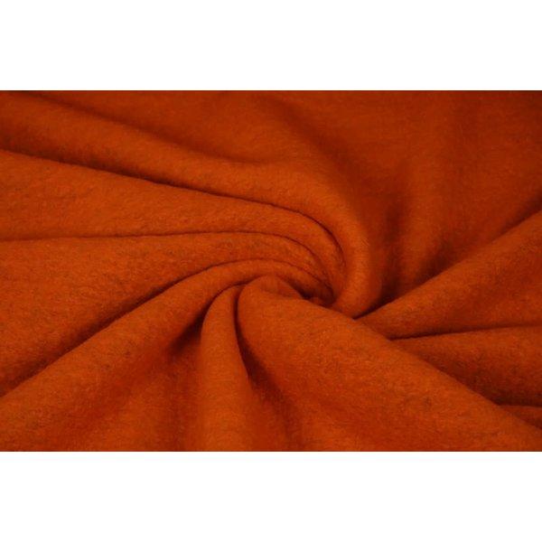 Gekookte wollen stof oranje