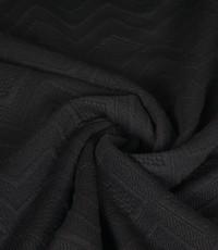 Gebreid effen zwart met zigzag patroon