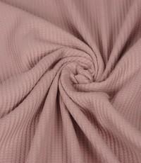 Wafel stretch oud roze