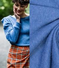 Mohair touch blauw