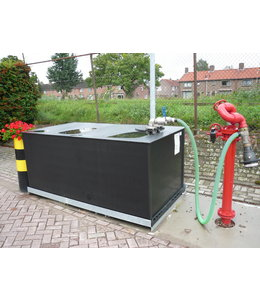 Foam extinguishtanks at a fixed position