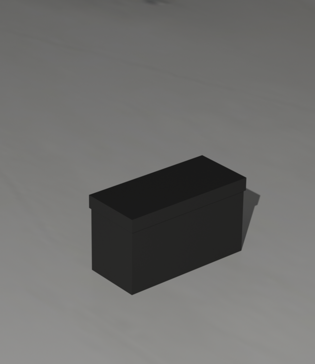 Battery box with lid for 1 battery