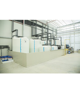 Double-walled collection container for liquid fertilizer tanks