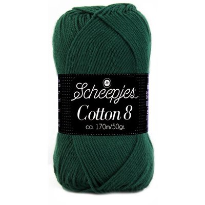 Scheepjes Cotton 8 donkergroen (713)
