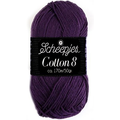Scheepjes Cotton 8 donkerpaars (721)