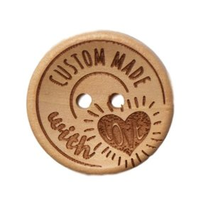 Houten knoop - Custom made with love - 25 mm