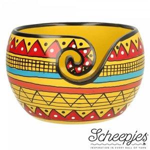 Scheepjes Yarn Bowl Yellow Stripe