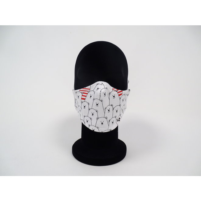 Kinder mondmasker ijsbeer (Wasbaar)