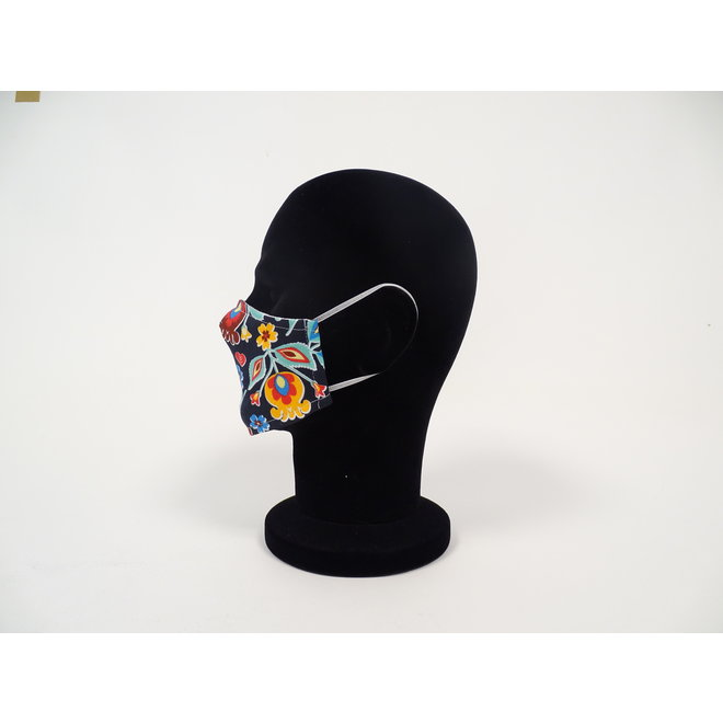Kinder mondmasker bloemen (Wasbaar)