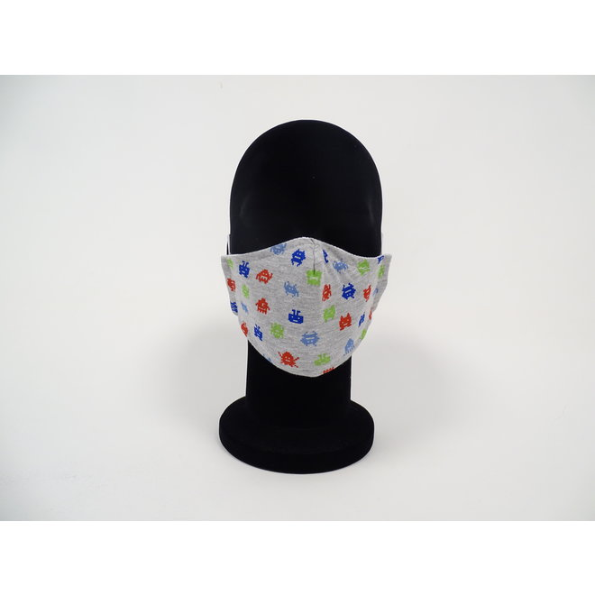 Kinder mondmasker pixel figuurtjes (Wasbaar)