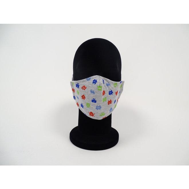 Kinder mondmasker pixel figuurtjes