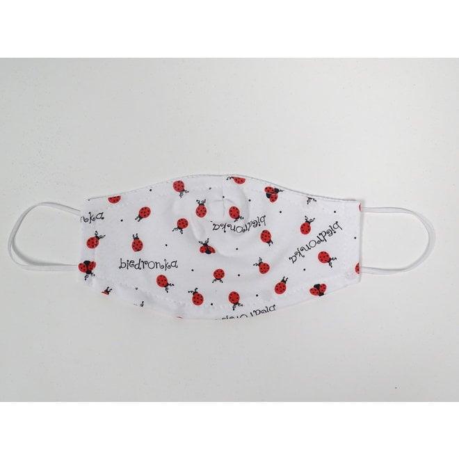 Kinder mondmasker lieveheersbeestjes (Wasbaar)