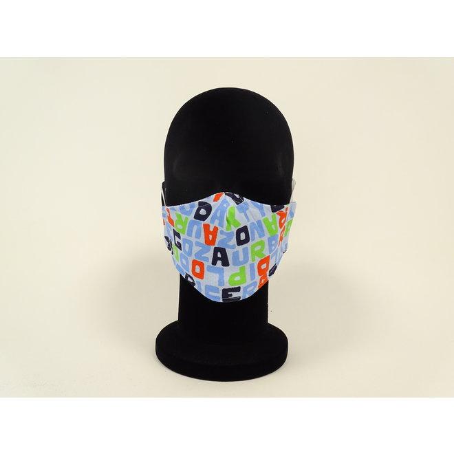 Kinder mondmasker letters