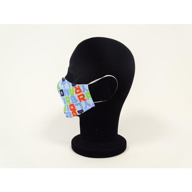 Kinder mondmasker letters (Wasbaar)